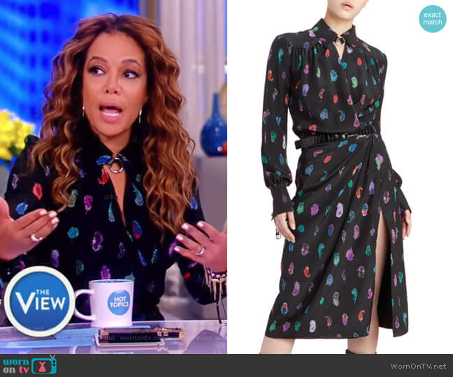 Kat Printed Silk Wrap Dress by Altuzarra worn by Sunny Hostin on The View