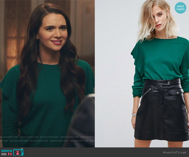 Frill Sleeve Sweater by Only at Asos worn by Jane Sloan (Katie Stevens) on The Bold Type