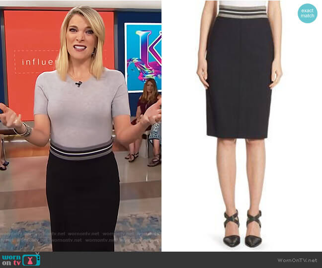 Wool Pencil Skirt by Brunello Cucinelli worn by Megyn Kelly on Today
