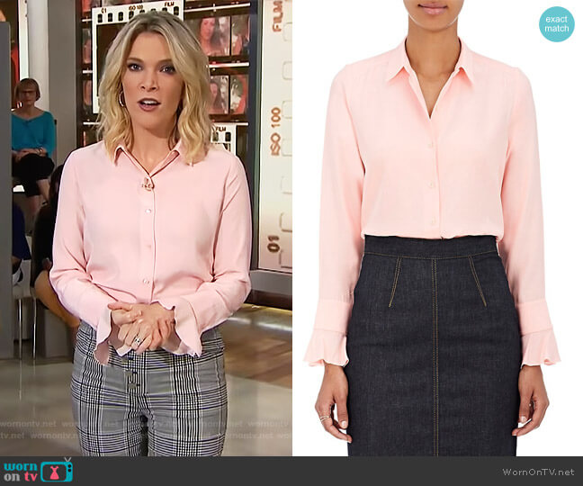 Silk Satin-Back Crepe Blouse by Barneys New York worn by Megyn Kelly  on Today