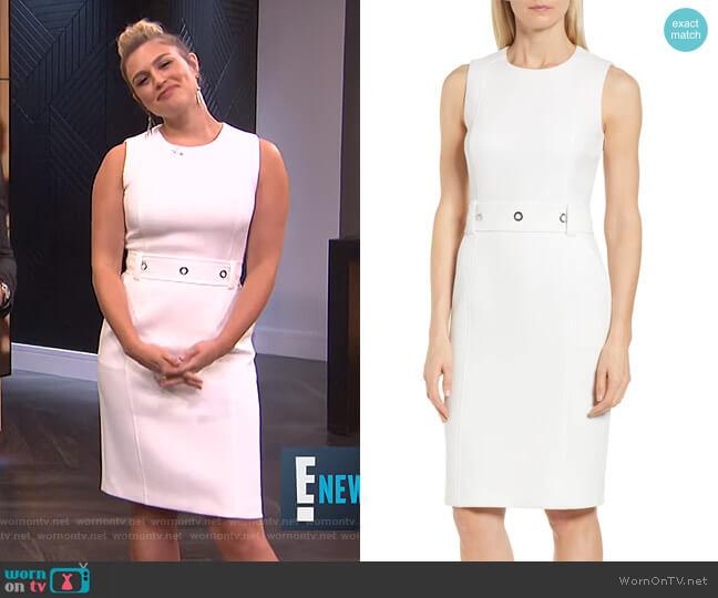 Duleama Dress by Boss worn by Carissa Loethen Culiner  on E! News
