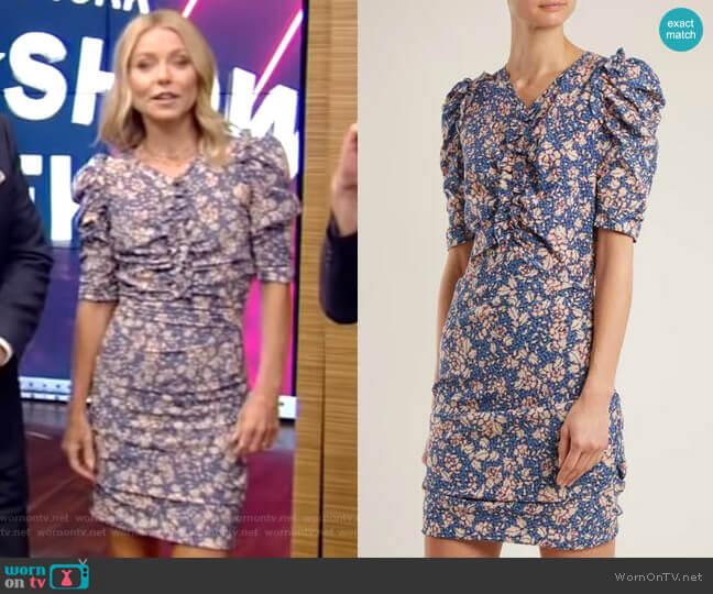 'Brizia' Dress by Isabel Marant worn by Kelly Ripa (Kelly Ripa) on Live with Kelly & Ryan