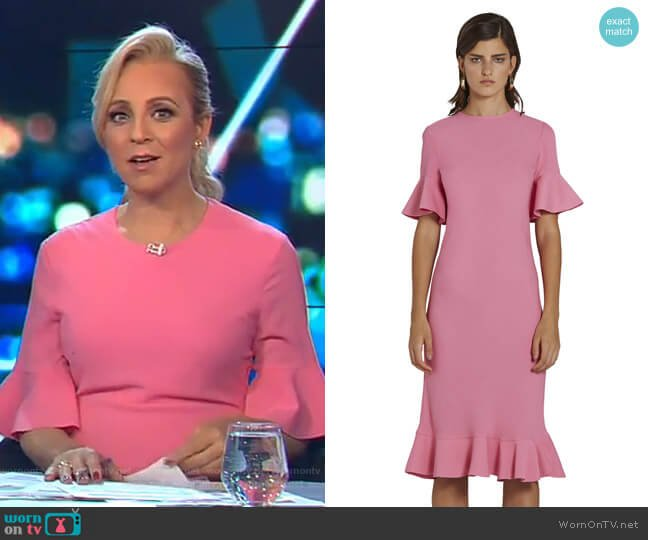 Willow Bias Tee Dress by By Johnny. worn by Carrie Bickmore  on The Project