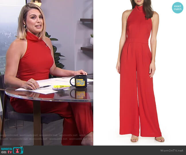 Tie Back Jumpsuit by Chelsea28 worn by Carissa Loethen Culiner on E! News