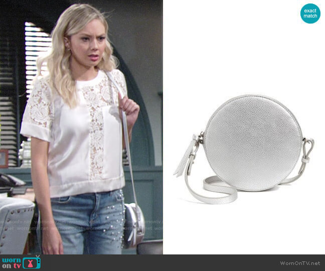 Chelsea28 Cassie Faux Leather Crossbody Bag worn by Abby Newman (Melissa Ordway) on The Young & the Restless