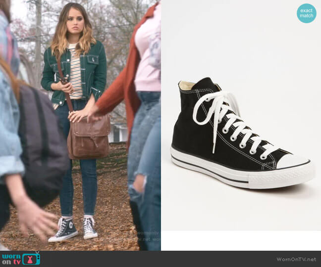 Chuck Taylor High Top Sneakers by Converse worn by Patty Bladell (Debby Ryan) on Insatiable