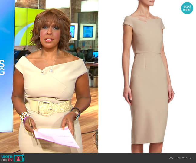 Darley Dress by Roland Mouret worn by Gayle King  on CBS This Morning