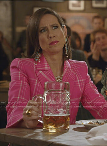 Diana's pink plaid blazer on Younger