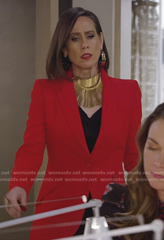 Diana's red blazer on Younger