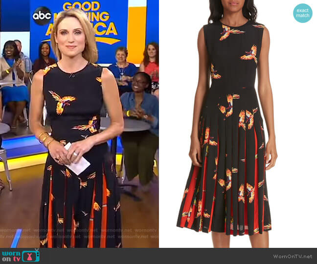 Talita Dress by Diane von Furstenberg worn by Amy Robach on Good Morning America