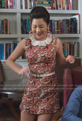 Dixie's floral print mini dress on Insatiable