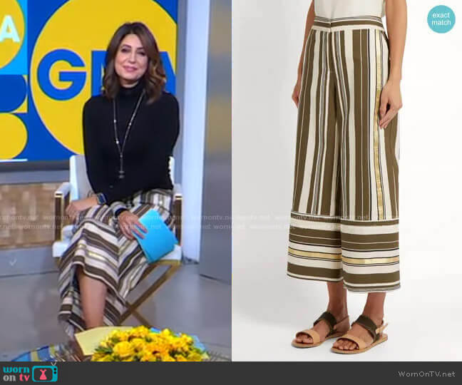 Dokos Wide-Leg Culottes by Zeus & Dione worn by Cecilia Vega  on Good Morning America