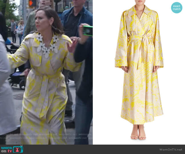 Ronchi Trench Coat by Dries Van Noten worn by Miriam Shor on Younger