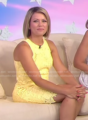 Dylan's yellow sleeveless lace dress on Today