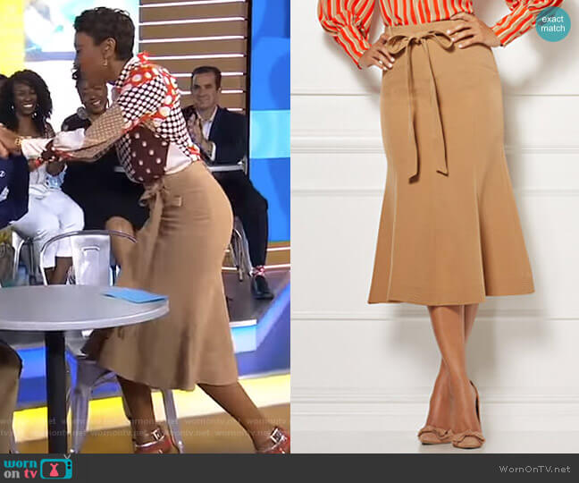 Claudine Skirt - Eva Mendes Collection by New York & Company worn by Robin Roberts  on Good Morning America