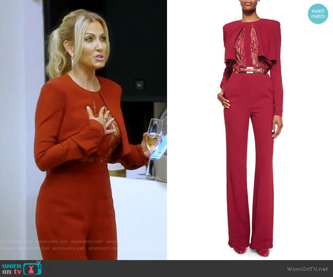 F16 60 Jumpsuit by Elie Saab worn by Stephanie Hollman  on The Real Housewives of Dallas