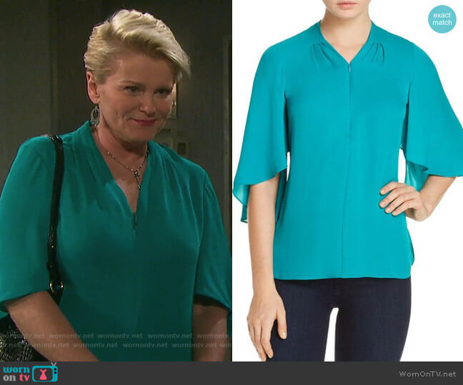 Anella Top by Elie Tahari worn by Judi Evans on Days of our Lives