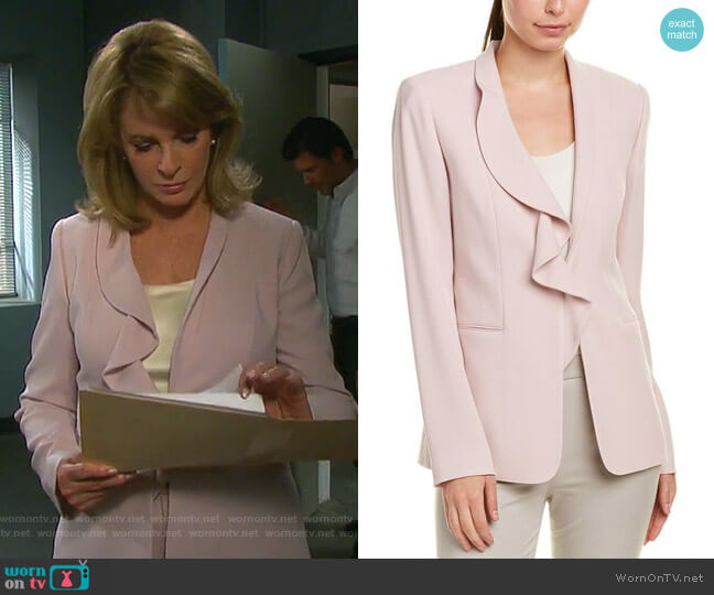 Siyah Blazer by Elie Tahari worn by Marlena Evans (Deidre Hall) on Days of our Lives