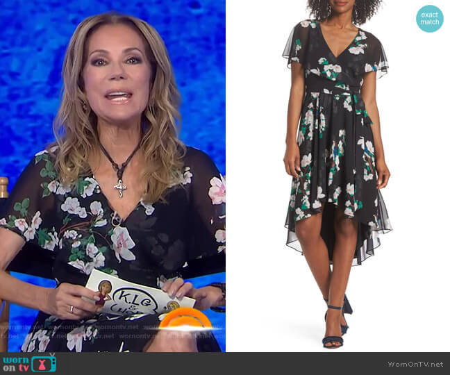 Flutter Sleeve High/Low Dress by Eliza J worn by Kathie Lee Gifford on Today