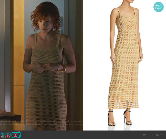 Edna Crochet Maxi Dress by Elizabeth and James worn by Kelly Anne Van Awken (Molly Burnett) on Queen of the South