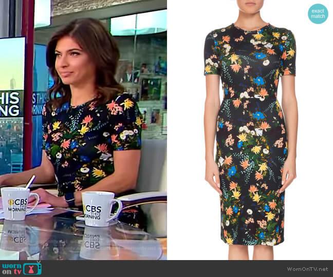 Essie Mariko Meadow Dress by Erdem worn by Bianna Golodryga on CBS This Morning