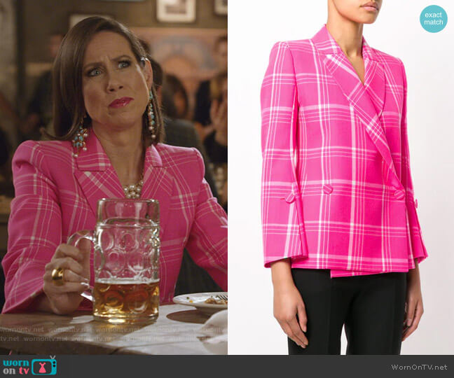 Pop Tartan Blazer by Fendi worn by Miriam Shor on Younger