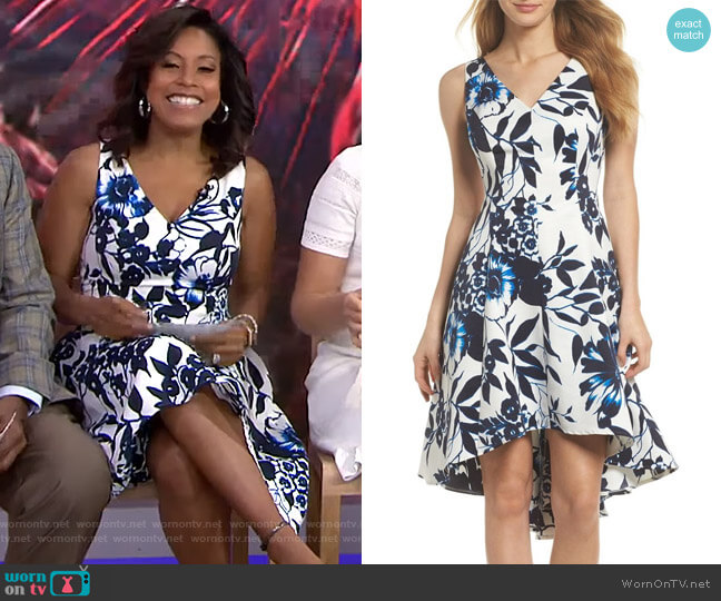 Floral Hi-Lo Dress by Eliza J worn by Sheinelle Jones  on Today