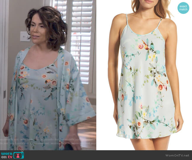 Alison Chemise by Flora Nikrooz worn by Alyssa Milano on Insatiable