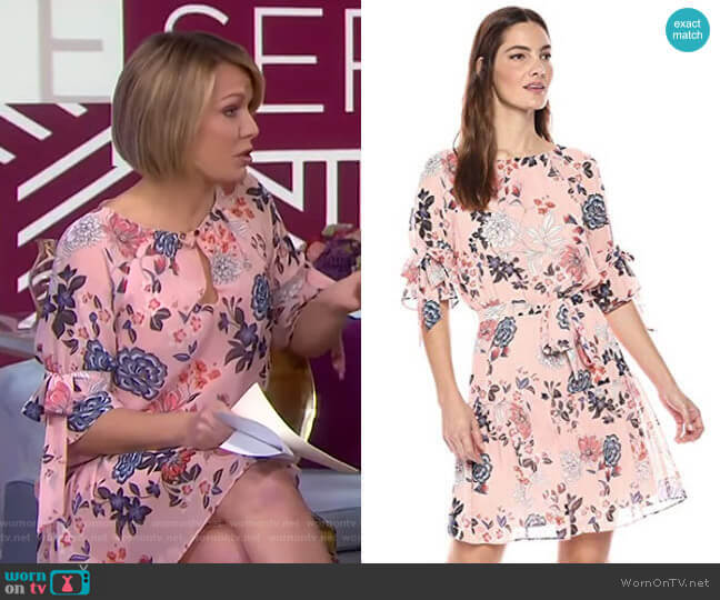 Floral Print Chiffon Dress by Vince Camuto worn by Dylan Dreyer (Dylan Dreyer) on Today