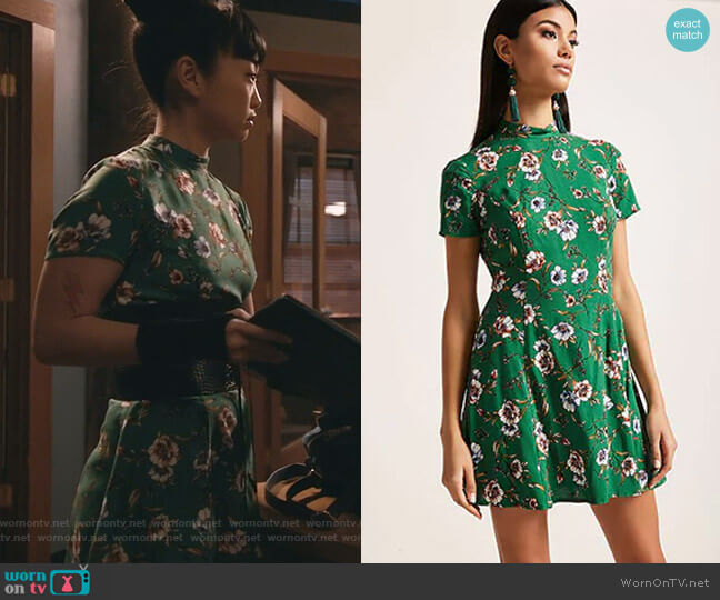 Floral Mini Dress by Forever 21 worn by Monica (Alice Lee) on Take Two