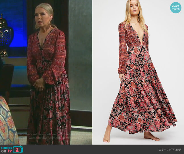 Dove Dress by Free People worn by Melissa Reeves on Days of our Lives