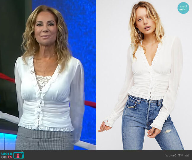 Smell The Roses Blouse by Free People worn by Kathie Lee Gifford on Today