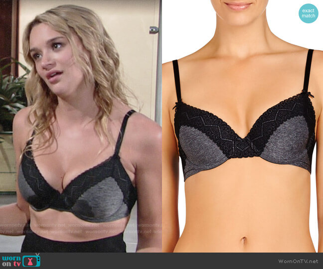 Heidi Klum Smooth Marl Lace T-Shirt Bra worn by Summer Newman (Hunter King) on The Young & the Restless