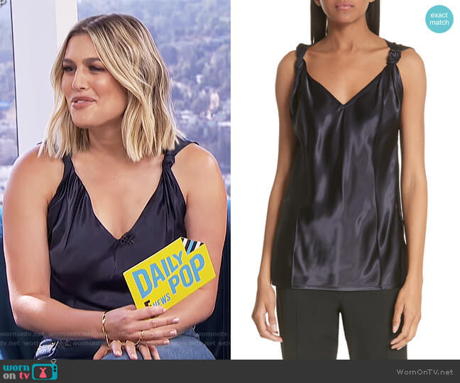 Twist Knot Top by Helmut Lang worn by Carissa Loethen Culiner  on E! News