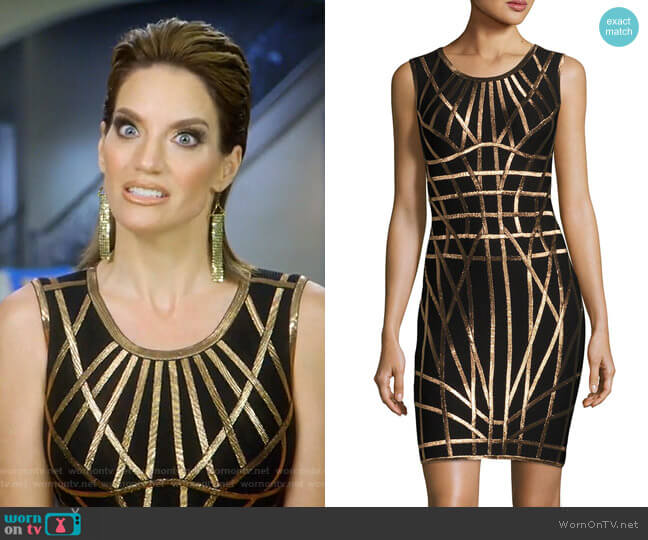 Romee Dress by Herve Leger worn by Cary Deuber on The Real Housewives of Dallas