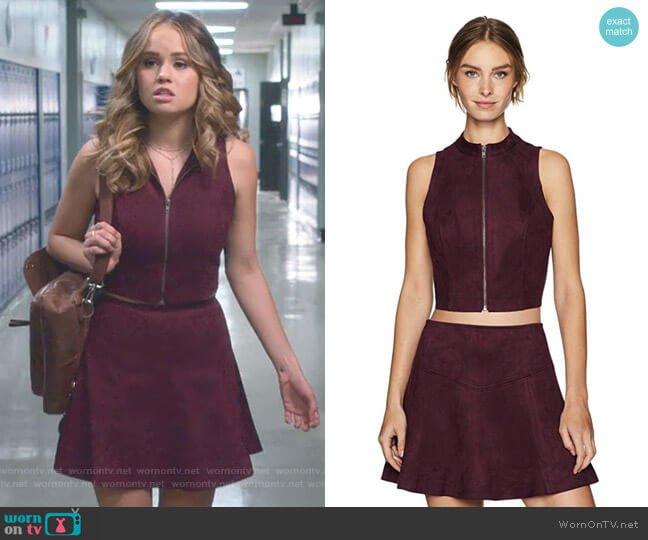 Dwyer Top and Hal Skirt by Jack by BB Dakota worn by Debby Ryan on Insatiable