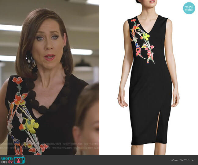 Sleeveless Floral Dress by Jason Wu worn by Diana Trout (Miriam Shor) on Younger