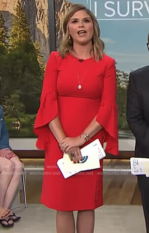 Jenna's red flutter sleeve dress on Today