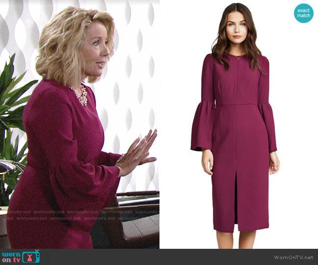 Jill Stuart Bell Sleeve Dress worn by Nikki Reed Newman (Melody Thomas-Scott) on The Young & the Restless