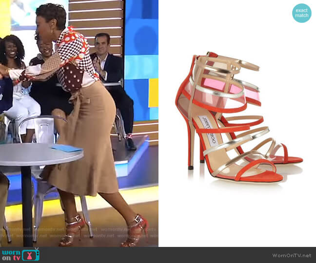 Maitai Sandals by Jimmy Choo worn by Robin Roberts  on Good Morning America