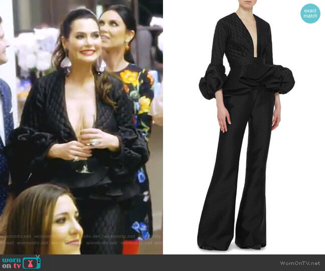 Maia Top and Dixie Pants by Johanna Ortiz worn by D'Andra Simmons on The Real Housewives of Dallas
