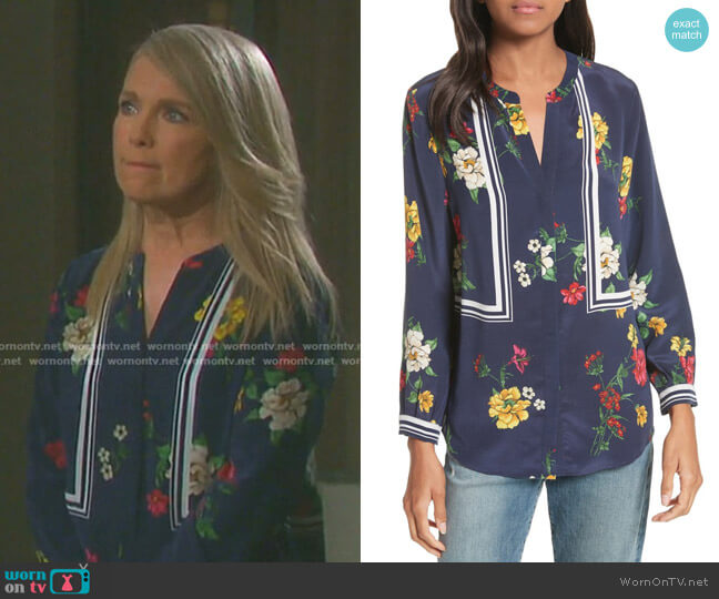 Aisa B Top by Joie worn by Jennifer Horton (Melissa Reeves) on Days of our Lives