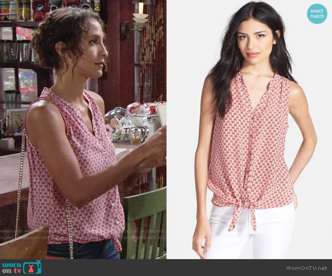 Joie Percel Top worn by Lily Winters (Christel Khalil) on The Young & the Restless