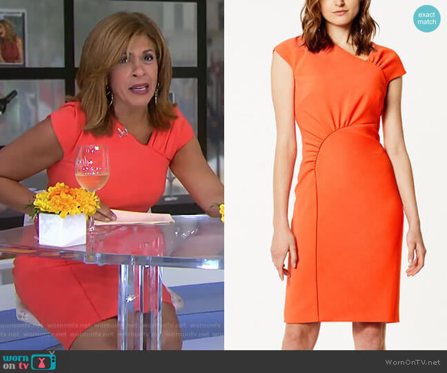 Gathered Dress by Karen Millen worn by Hoda Kotb on Today