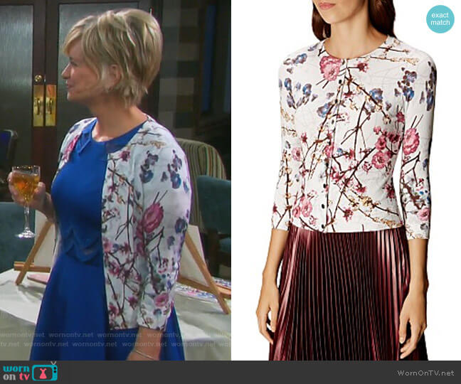 Sakura Cardigan by Karen Millen worn by Mary Beth Evans on Days of our Lives