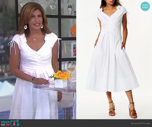 Wrap Shirt Dress by Karen Millen worn by Hoda Kotb on Today