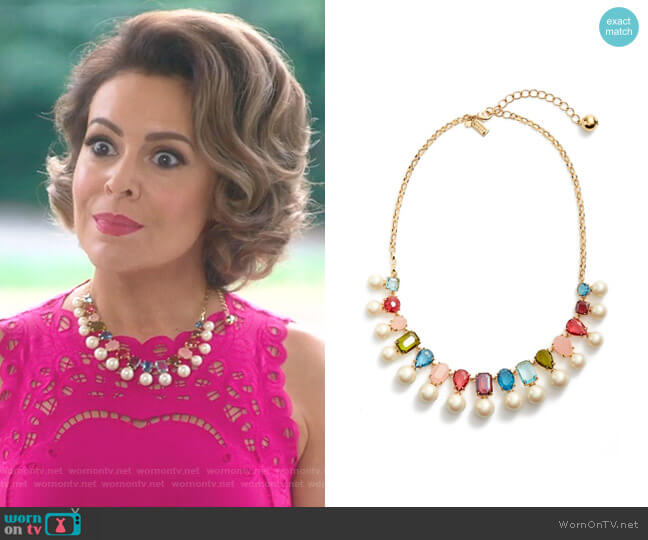 Hue Collar Necklace by Kate Spade worn by Alyssa Milano on Insatiable