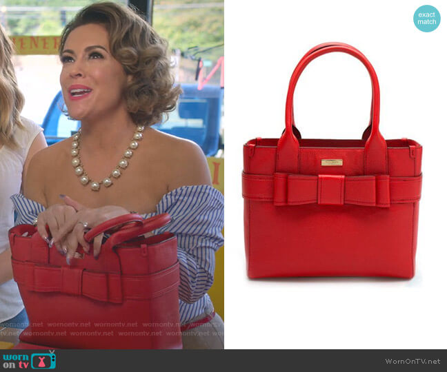 Villabella Avenue Quinn Bag by Kate Spade worn by Alyssa Milano on Insatiable