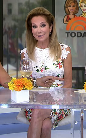 Kathie's white floral lace dress on Today