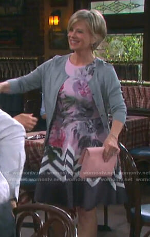 Kayla's pink floral dress on Days of our Lives